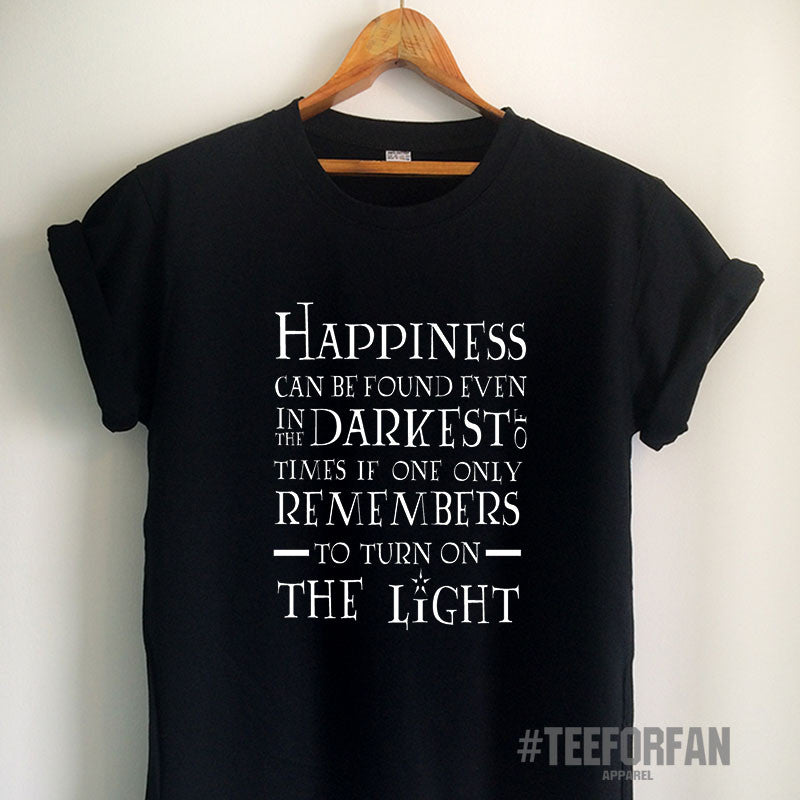 Harry Potter Shirts Harry Potter Merchandise Happiness Darkest Of Times and Light Quote T Shirts Clothes Apparel Top Tee for Women Girls Men