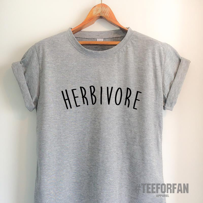 Vegan T Shirt Vegan Shirt Herbivore Shirt Herbivore T Shirt Vegan Clothing Unisex Vegetarian Top Tee White/Grey/Black/Burgundy/Navy/Red