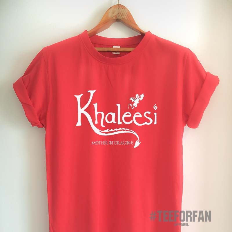 Game of Thrones T Shirt Khaleesi Shirt Daenerys Targaryen Mother of Dragons T Shirt GoT Merchandise for Women Girls Men Unisex Top Tee Black/White/Grey/Red