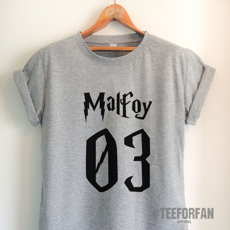 Harry Potter Shirt Harry Potter Merchandise Draco Malfoy Shirt T Shirt Clothes Quidditch Jersey Top Tee for Women Girls Men