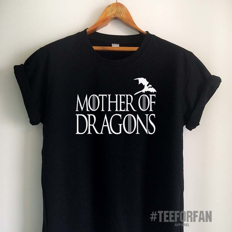 Game of Thrones T Shirt Mother of Dragons Shirt Daenerys Targaryen Khaleesi T Shirt GoT Merchandise for Women Girls Men Unisex Top Tee Black/White/Grey/Red