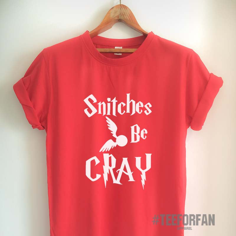 Harry Potter Shirts Harry Potter Merchandise Snitches be Cray Quote Quidditch T Shirts Clothes Apparel Top Tee for Women Girls Men
