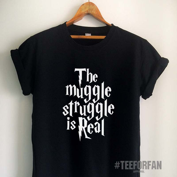 Harry Potter Shirts Harry Potter Merchandise The Muggle Struggle Is Real T Shirts Clothes Apparel Top Tee for Women Girls Men