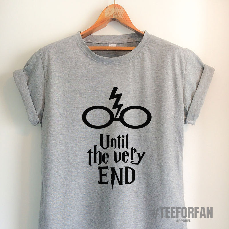 c4d2cd402 Harry Potter Shirts Harry Potter Merchandise Until The Very End Quote  Deathly Hallows T Shirts Clothes