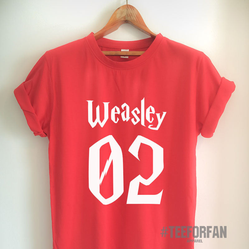 Harry Potter Shirt Harry Potter Merchandise Ron Weasley T Shirt Clothes Quidditch Jersey Top Tee for Women Girls Men