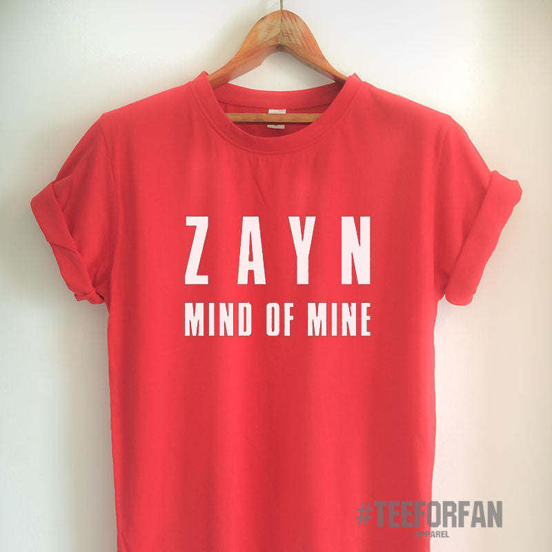 Zayn Malik Shirt Mind of Mine T Shirt Zayn Malik Merch Clothing Top Tee Jersey for Women Girls Men