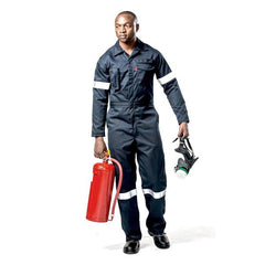 Dromex Dupont Nomex Flame Retardant Boilersuits - Navy Blue - Safety Supplies  Workwear - PPE, Workwear, Conti Suits, Zeroflame and Acid, Safety Equipment, Safety Products - Safety supplies