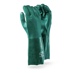Dromex Green PVC Glove (40cm) - Safety Supplies  Hand Protection - PPE, Workwear, Conti Suits, Zeroflame and Acid, Safety Equipment, Safety Products - Safety supplies