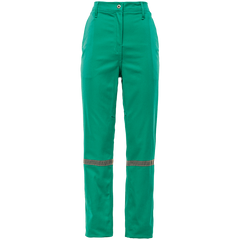 Sisi D59 100% Cotton Durafit Reflective Work Trousers - Fern Green - Safety Supplies  Workwear - PPE, Workwear, Conti Suits, Zeroflame and Acid, Safety Equipment, Safety Products - Safety supplies