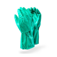 Dromex Nitrile EN Approved Category III Industrial Chemical Gloves - Green