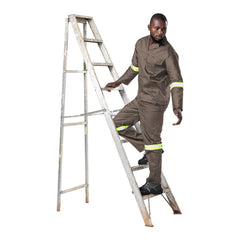 Dromex Reflective Poly Cotton Conti Suit - Khaki - Safety Supplies  Workwear - PPE, Workwear, Conti Suits, Zeroflame and Acid, Safety Equipment, Safety Products - Safety supplies
