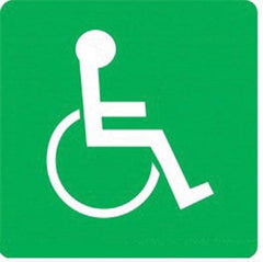 Signage - Allocation/ Access Wheelchair (290x290mm) - Safety Supplies  Signage - PPE, Workwear, Conti Suits, Zeroflame and Acid, Safety Equipment, Safety Products - Safety supplies