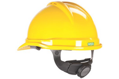 MSA V-Gard® 500 Vented Hard Hat Cap Style - Yellow - Safety Supplies  Head Protection - PPE, Workwear, Conti Suits, Zeroflame and Acid, Safety Equipment, Safety Products - Safety supplies