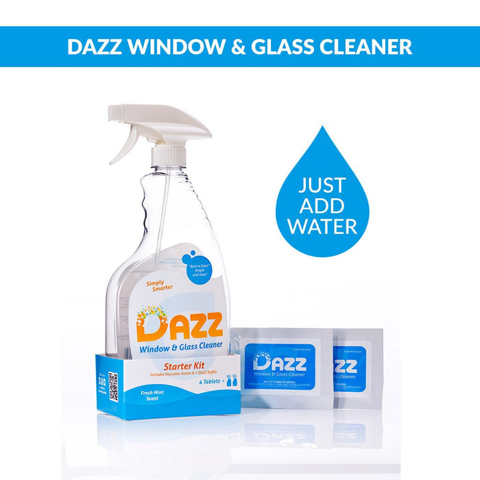 DAZZ Window & Glass Cleaner Tablet - Starter Kit - Safety Supplies  Other Protection - PPE, Workwear, Conti Suits, Zeroflame and Acid, Safety Equipment, Safety Products - Safety supplies