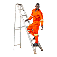 Dromex Reflective Poly Cotton Conti Suit - Orange - Safety Supplies  Workwear - PPE, Workwear, Conti Suits, Zeroflame and Acid, Safety Equipment, Safety Products - Safety supplies