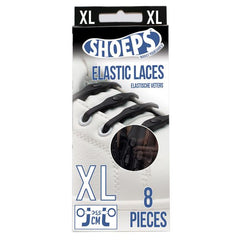 Shoeps Black Elastic Silicone XL Shoe Laces - Safety Supplies  Footwear - PPE, Workwear, Conti Suits, Zeroflame and Acid, Safety Equipment, Safety Products - Safety supplies