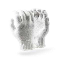 Dromex 7gg Machine Knitted (crochet) 600gpd Bleached Seamless Gloves - Safety Supplies  Hand Protection - PPE, Workwear, Conti Suits, Zeroflame and Acid, Safety Equipment, SAFETY SUPPLIES - Safety supplies