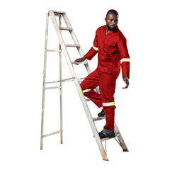 Dromex Reflective Poly Cotton Conti Suit - Red - Safety Supplies  Workwear - PPE, Workwear, Conti Suits, Zeroflame and Acid, Safety Equipment, Safety Products - Safety supplies