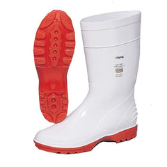 Wayne F1681 Duralight 1 Ladies Calf Length White/Red Gumboot - Safety Supplies  Gumboots - PPE, Workwear, Conti Suits, Zeroflame and Acid, Safety Equipment, Safety Products - Safety supplies