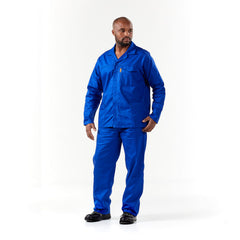 Dromex J54 100% Cotton Conti Suit - Royal Blue - Safety Supplies  Workwear - PPE, Workwear, Conti Suits, Zeroflame and Acid, Safety Equipment, Safety Products - Safety supplies