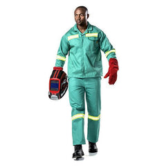 Dromex D59 Fern Green Flame Retardant Conti Pants (with Reflective) - Safety Supplies  Workwear - PPE, Workwear, Conti Suits, Zeroflame and Acid, Safety Equipment, SAFETY SUPPLIES - Safety supplies