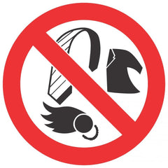Loose Clothing Prohibited (290x290) - Safety Supplies  Signage - PPE, Workwear, Conti Suits, Zeroflame and Acid, Safety Equipment, Safety Products - Safety supplies