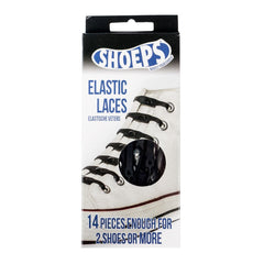 Shoeps Black Elastic Silicone Shoe Laces - Safety Supplies  Footwear - PPE, Workwear, Conti Suits, Zeroflame and Acid, Safety Equipment, Safety Products - Safety supplies