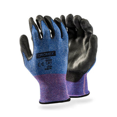 Dromex DYTEC3™ seamless cut level 3 resistant gloves - black pu palm coated. - Safety Supplies  Hand Protection - PPE, Workwear, Conti Suits, Zeroflame and Acid, Safety Equipment, Safety Products - Safety supplies