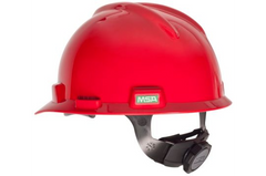 MSA V.Guard Hard Hat+Snugfit Liner - Red - Safety Supplies  Head Protection - PPE, Workwear, Conti Suits, Zeroflame and Acid, Safety Equipment, Safety Products - Safety supplies