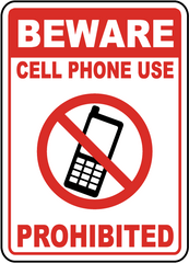 Cellphone Prohibited (290x290) - Safety Supplies  Signage - PPE, Workwear, Conti Suits, Zeroflame and Acid, Safety Equipment, SAFETY SUPPLIES - Safety supplies