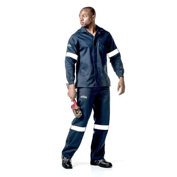 Dromex Navy SABS D59 Flame & Acid Conti Jacket (with Reflective) - Safety Supplies  Workwear - PPE, Workwear, Conti Suits, Zeroflame and Acid, Safety Equipment, SAFETY SUPPLIES - Safety supplies