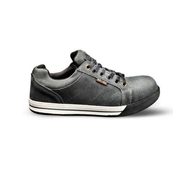 Bronx Stripped Suede Safety Sneaker - Grey