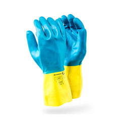 Dromex Blue Neoprene Chemical Glove - Safety Supplies  Hand Protection - PPE, Workwear, Conti Suits, Zeroflame and Acid, Safety Equipment, Safety Products - Safety supplies