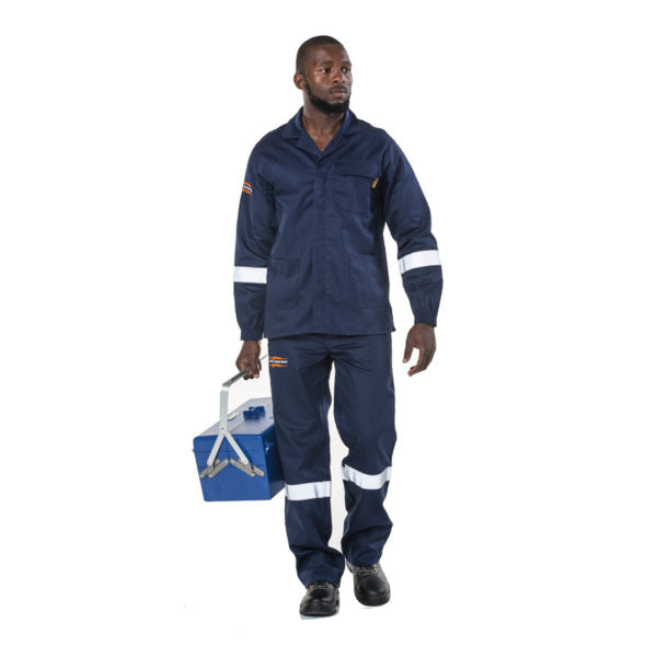 Dromex Flame Suit - Navy Blue - Safety Supplies  Workwear - PPE, Workwear, Conti Suits, Zeroflame and Acid, Safety Equipment, Safety Products - Safety supplies
