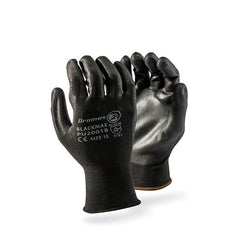 Dromex Black Max Seamless Black Inspectors Gloves - PU palm coated. - Safety Supplies  Gloves - PPE, Workwear, Conti Suits, Zeroflame and Acid, Safety Equipment, SAFETY SUPPLIES - Safety supplies