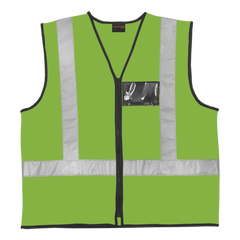 Dromex Lime Anti Static & Flame Retardant Reflective Vest - Safety Supplies  Reflective Wear - PPE, Workwear, Conti Suits, Zeroflame and Acid, Safety Equipment, SAFETY SUPPLIES - Safety supplies