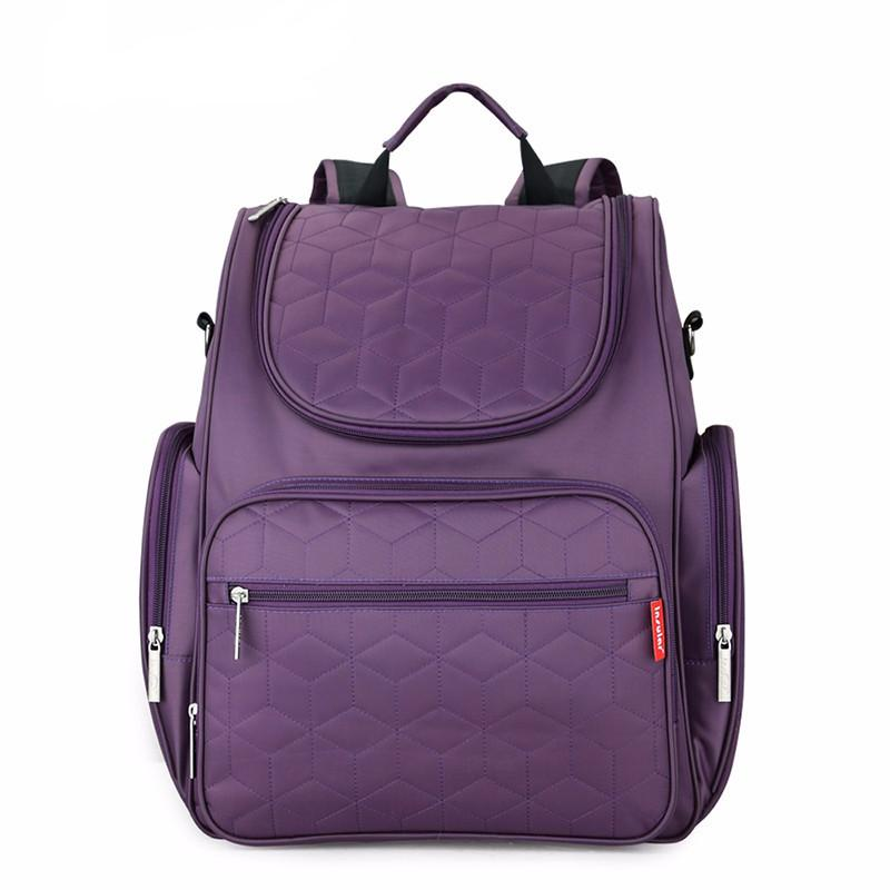 This Insular Anabella Diaper Backpack has ample storage compartments for bottles, diapers, snacks, toys and valuables.