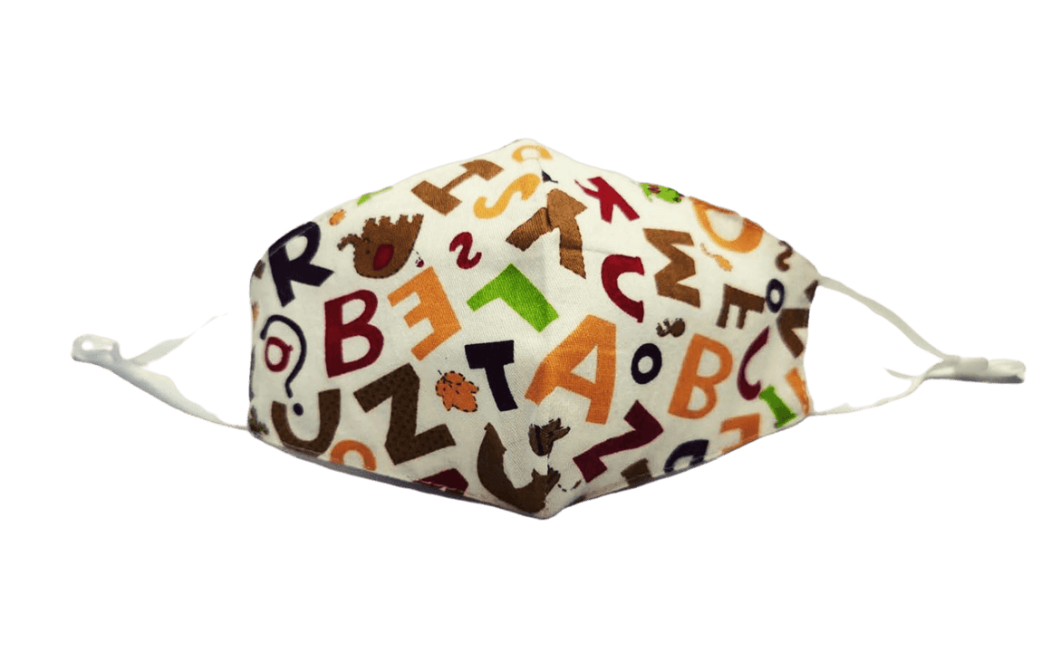 """Alphabet"" Kids Face Covering (Washable)"