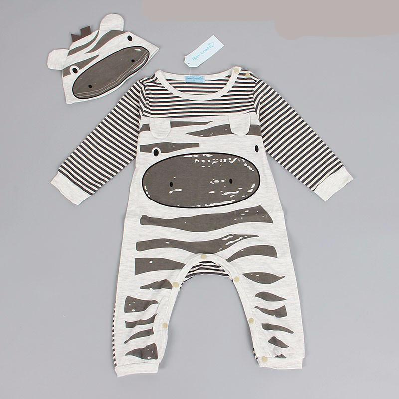 Grey Cow Romper and Hat set | 0-24 months available
