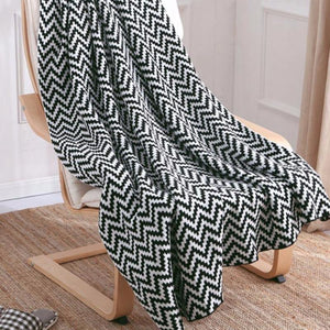 Knitted Geometric Blankets