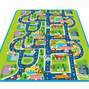 Cutieloot Baby Play Mat - This super soft foam play mat has a graphic image of a city layout. So, your little one can safely explore their imagination!