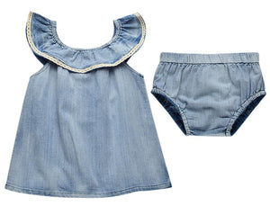 Denim 2-Piece Top & Pant Set | 4-24 months Available