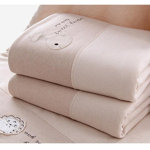 Soft Organic Cotton Cartoon Blanket