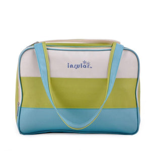 This Block Coloured Diaper Bag has a large capacity and comes in vibrant colours perfect for any weather. It's made with waterproof material and has ample storage compartments for bottles, diapers, snacks, toys and valuables yet is light enough to wear with ease.