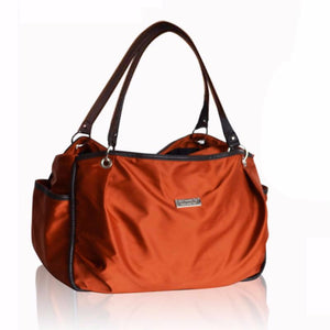 This Large Slick Diaper Bag has ample storage compartments for bottles, diapers, snacks, toys and valuables.
