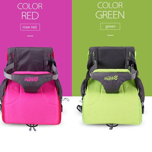 Mambobaby 2 in 1 Diaper Backpack and Portable Baby Dining Chair - light green