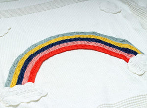 Knitted Rainbow Blanket