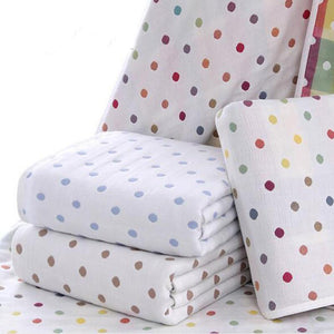 Cotton Jacquard Dotted Blanket