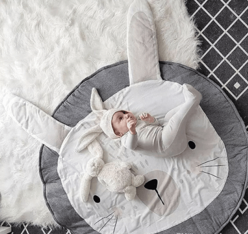 Multi-functional Lion Rabbit Playmat & Blanket