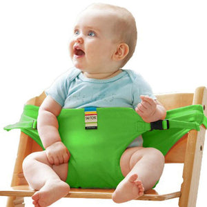 Portable dining harness is a must-have when out dining with your little one or simple feeding times at home. It can be strapped to any chair and allows your baby to sit upright at the table.